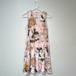 Blush Floral Calvin Klein Flowy Dress (10)